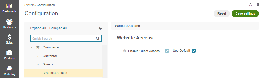 Guest access system configuration