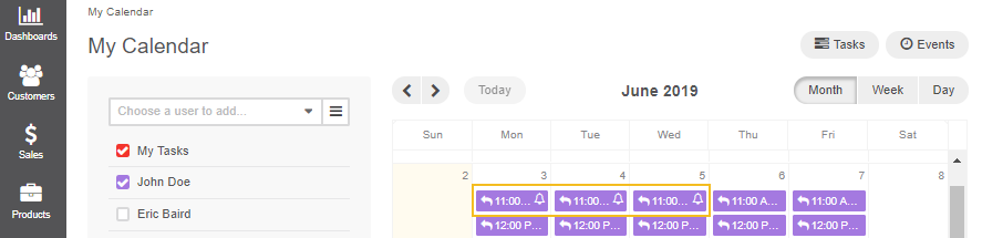 The status of your calendar events