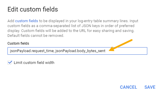 Modify custom fields form