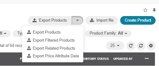 Exporting products, filtered products, related products, price attribute data