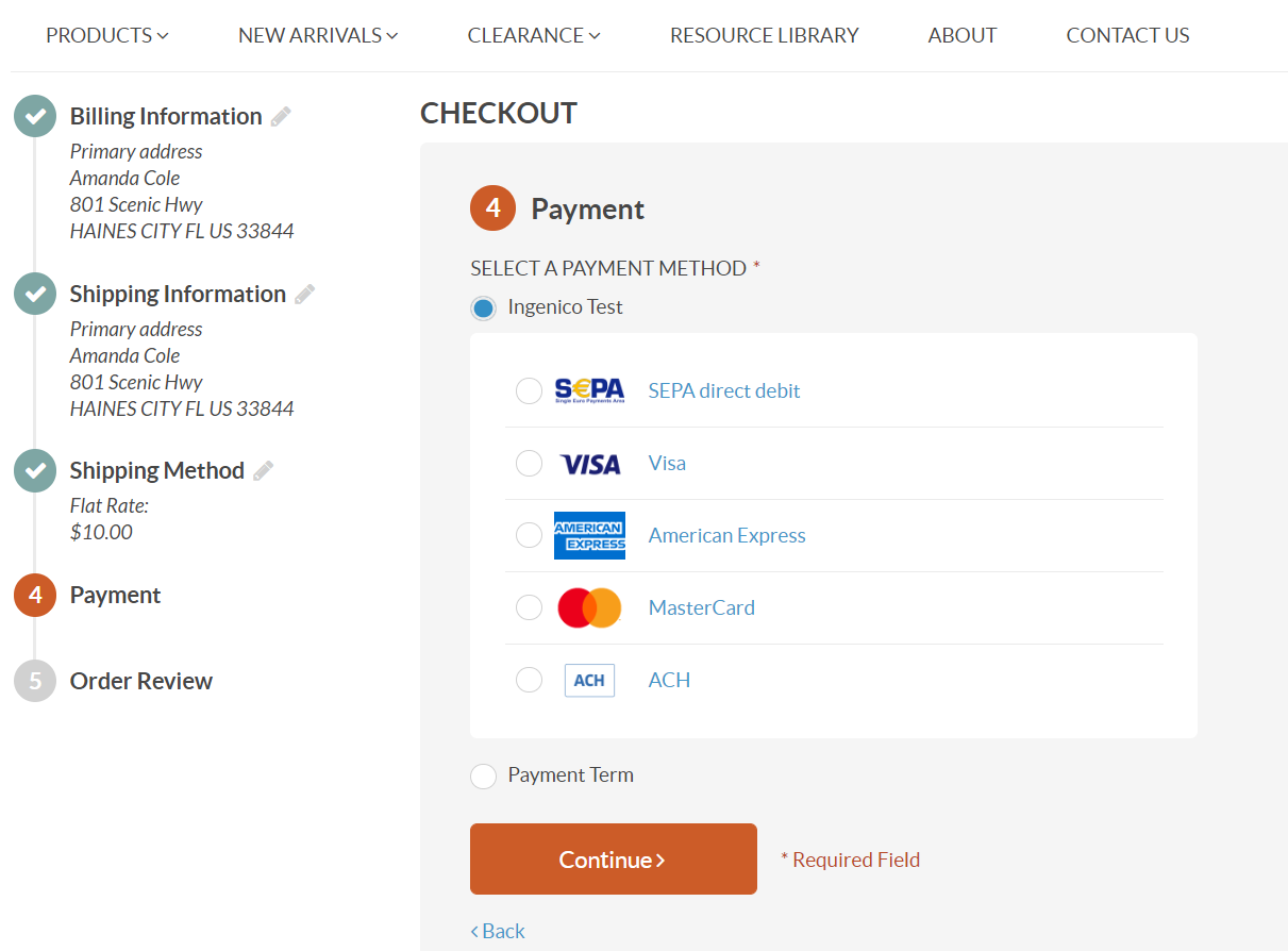Payment Methods in Storefront