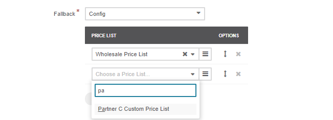 Adding a new price list to the pricelist section